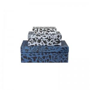 스토리지 박스 3종 세트 수줍은 치타 블루